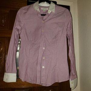 Women's pinstripe dress shirt